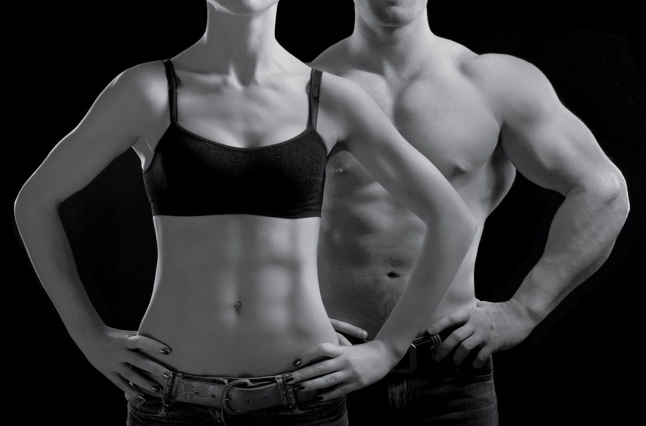 Look from low body fat percentage